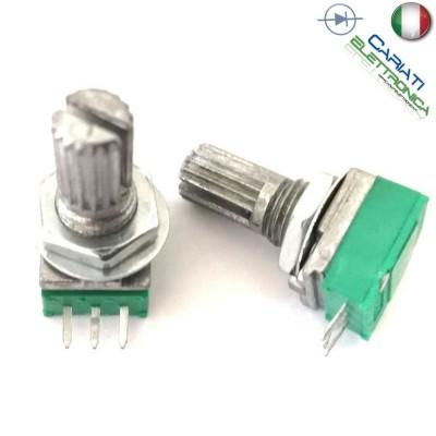 1 Pezzo Potenziometro Lineare 20 Kohm B20K RK097N 15mm Audio AmplificatoreGenerico