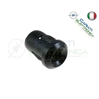 20 PEZZI SUPPORTO PORTA LED 5MM IN ABS PLASTICA NERA