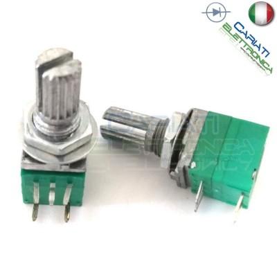 1 Pezzo Potenziometro Lineare 10 Kohm B10K RV097NS 15mm con Interruttore