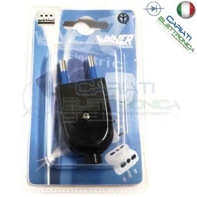 Spina elettrica volante 250Vac 2P 10A IMQ  1,00€
