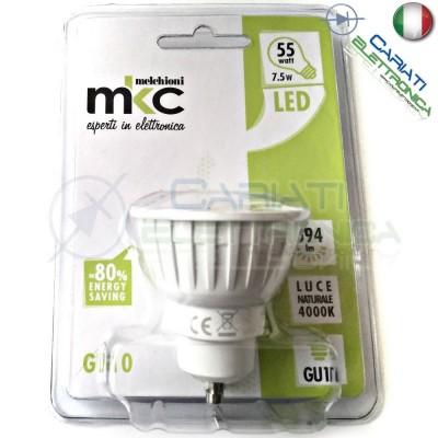 Lampada Lampadina Faretto Luce LED GU10 230V 7,5W BIANCO NEUTRO 4000k 594Lm