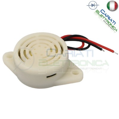 Buzzer Sound transducer piezo alarm 3V 5V 12V 24V DC Pulsed intermittent sound with built-in generatorGenerico
