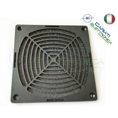 GRIGLIA DI PROTEZIONE PER VENTOLA 80 X 80 mm con filtro polvere