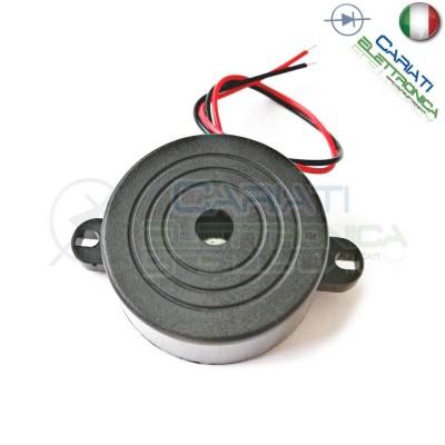 Cicalino Buzzer ad intermittenza 5V 12V 24V Oscillatore Integrato Diametro 42mm  3,49€