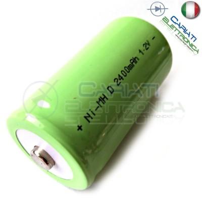BATTERIA RICARICABILE D TORCIONE NI-MH D 1,2V 2400mAh 34x62mm PROFESSIONALE 2,99 €