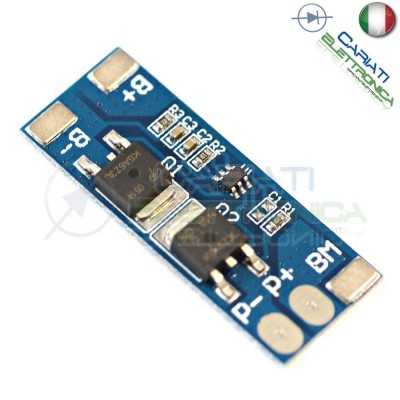 Circuito di protezione per 2 batterie 18650 Litio Li-ion PCB battery 8.4V 8A