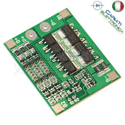 Circuito di protezione per 3 batterie 18650 Litio Li-ion PCB battery 11.1V 25A  4,59 €