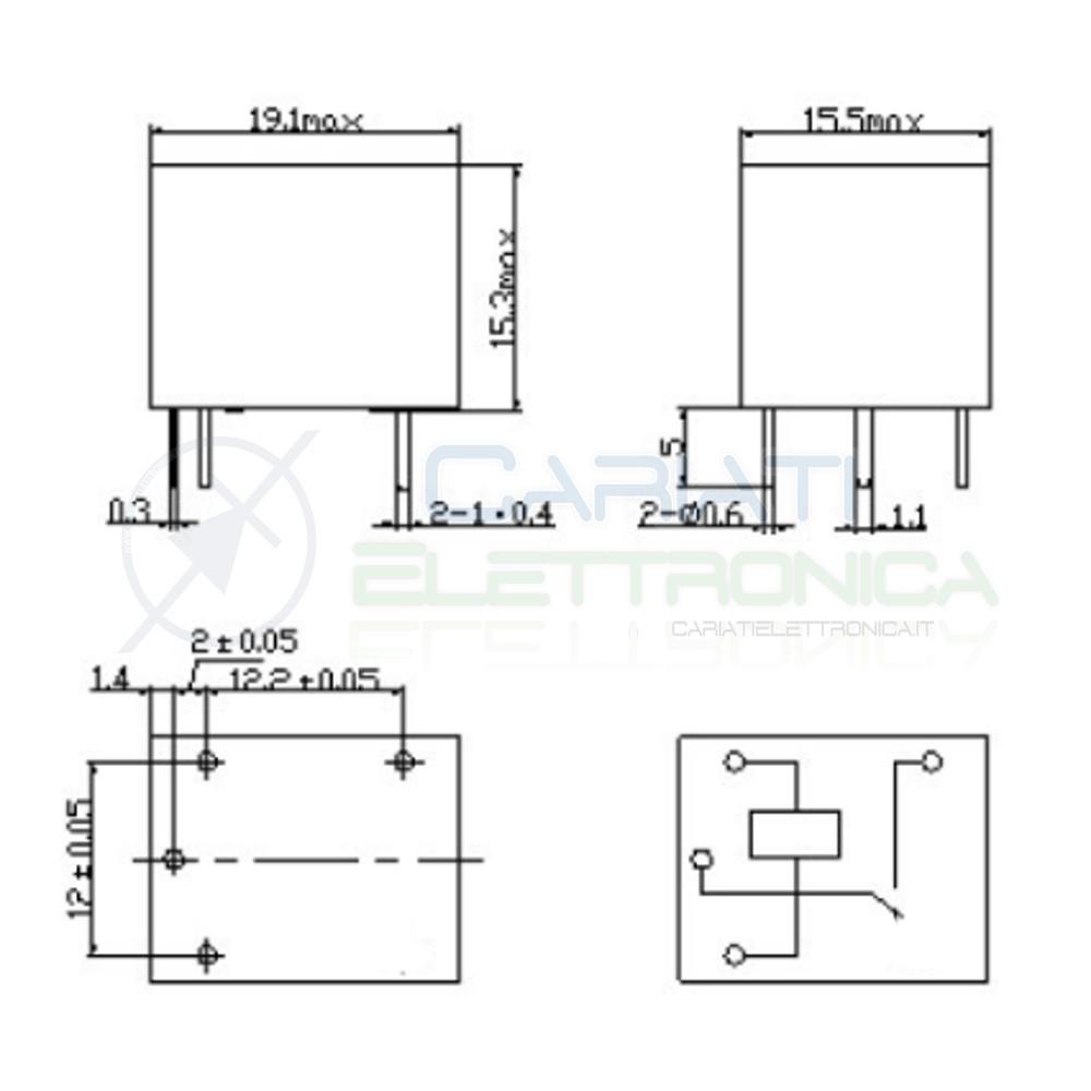 relay rel u00e8 24v dc 10a circuito stampato pcb 1 scambio srd