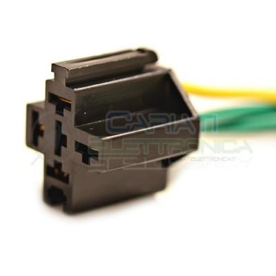 Zoccolo per relè relay 5 pin 40A Auto Camper lunghezza cavi 13cm 2,90 €