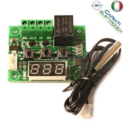 MODULO W1209 TERMOSTATO DIGITALE CONTROLLO DI TEMPERATURA -50° 110°C + SONDA NTC  3,59€