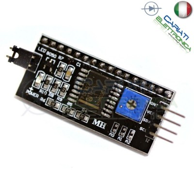 Interfaccia I2C per display LCD 16x2 HD44780 per Arduino 1,70 €