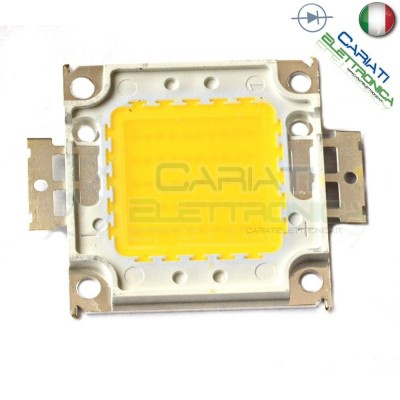 Chip power LED 50W Bianco Caldo 3000K alta Luminosità ricambio faro