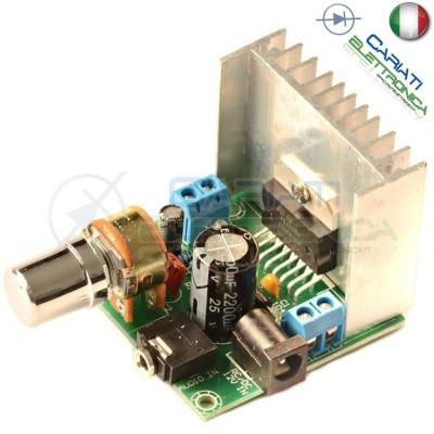 Scheda Amplificatore Audio Stereo 2 canali TDA7297 15W + 15W con manopola