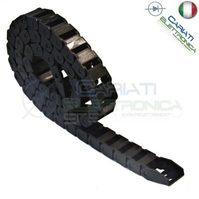 Catena Nera Passacavi Portacavi Porta Cavo 10x20 mm 1 metro CNC Stampante 3D Generico