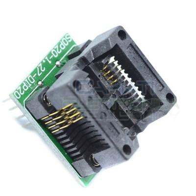 Adattatore Basetta Test PCB Programmazione SOP8 a DIP8