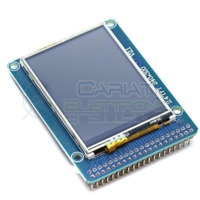 Display lcd grafico 320X240 2.4 TFT ILI9325 con touch e SD per Arduino uno R3