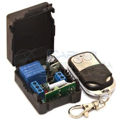 Scheda Ricevente Ricevitore 12V 433 Mhz 1 Relè Canale con Telecomando