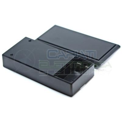 Contenitore custodia 130x60x29 mm con portabatteria AA o 9V in ABS nero