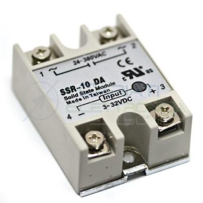 Relè Statico 10A 3-32Vdc 24-380Vac SSR-10 DA Stato Solido Relay 8,39 €