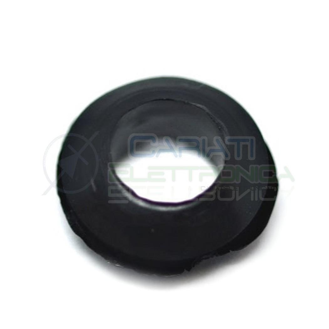 20 PEZZI Passacavo in gomma gommino guida cavo da pannello con foro passante 6mm