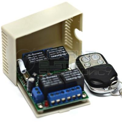 Scheda Ricevente Ricevitore 24V 433 Mhz 4 Relè Canali con Telecomando 18,99 €