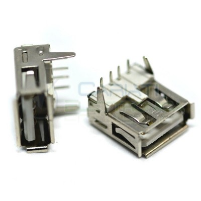 2 Pezzi Connettore Porta Presa USB Tipo A femmina 4 pin