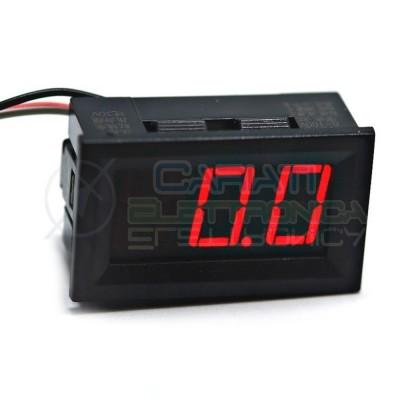 Display Lcd ROSSO Voltometro DC da pannello 0V-100V Tensione Tester