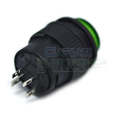 PULSANTE LED VERDE 12V ROTONDO DIAMETRO 18mm