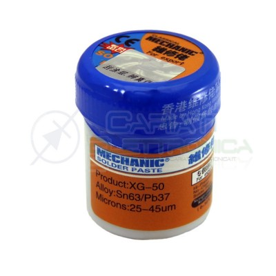 Stagno liquido Solder Paste 42gr Sn63 Pb37 per saldatura SMD Pasta Saldante  7,00€