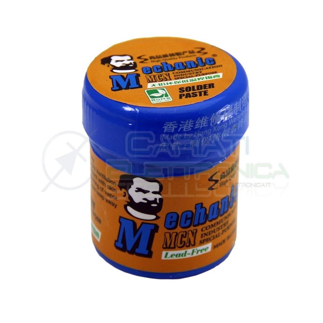 Stagno liquido Solder Paste 42gr Sn96.5 Ag3 Cu0.5 per saldatura SMD Pasta Saldante 10,00 €