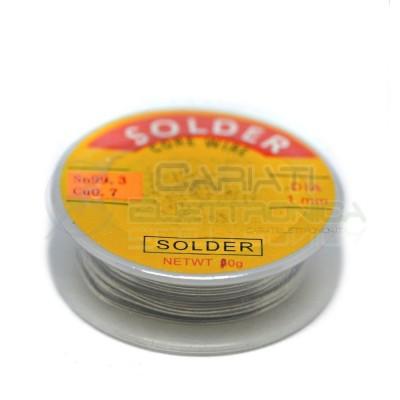 BOBINA ROTOLO STAGNO 1mm Sn99.3 Cu0.7 2 Lunghezza 2m 10gr  1,80€