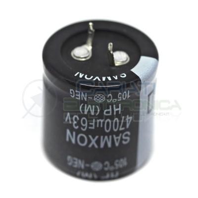 Condensatore elettrolitico SAMXON SNAP IN 4700uF 4700 uF 63V 105°CSamxon
