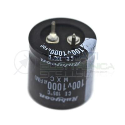 Condensatore elettrolitico RUBYCON SNAP IN 1000uF 100V 105°C Rubycon