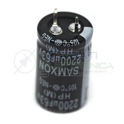 Condensatore elettrolitico SAMXON SNAP IN 2200 uF 63V 105°CSamxon