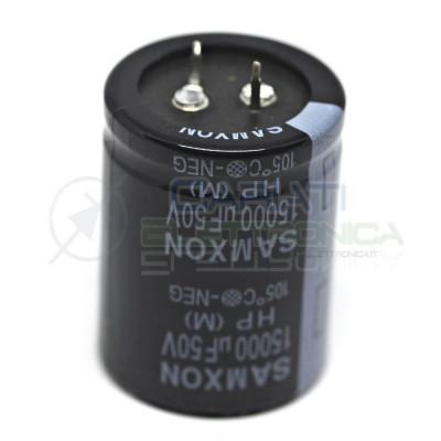 15000uF 50V Condensatore elettrolitico 35x45mm SAMXON SNAP IN 105°C Samxon