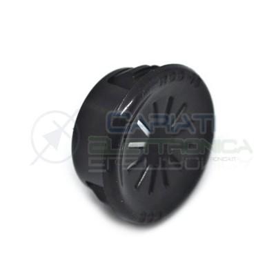 5 PEZZI PASSACAVO NERO da pannello con diametro 16mm  1,00€