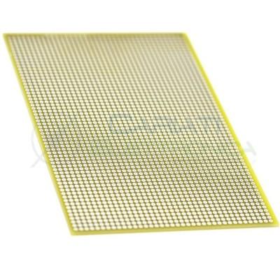 Basetta Millefori 100x160mm Sperimentale Passo 2,54mm Monofaccia in Vetronite BreadBoard Generico