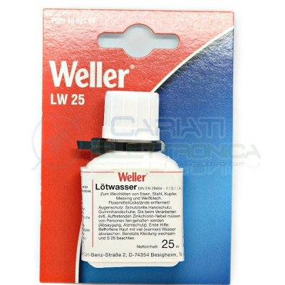 Flussante liquido Weller 25 ml con pennello applicatore stagno saldatura Flux 4,30 €