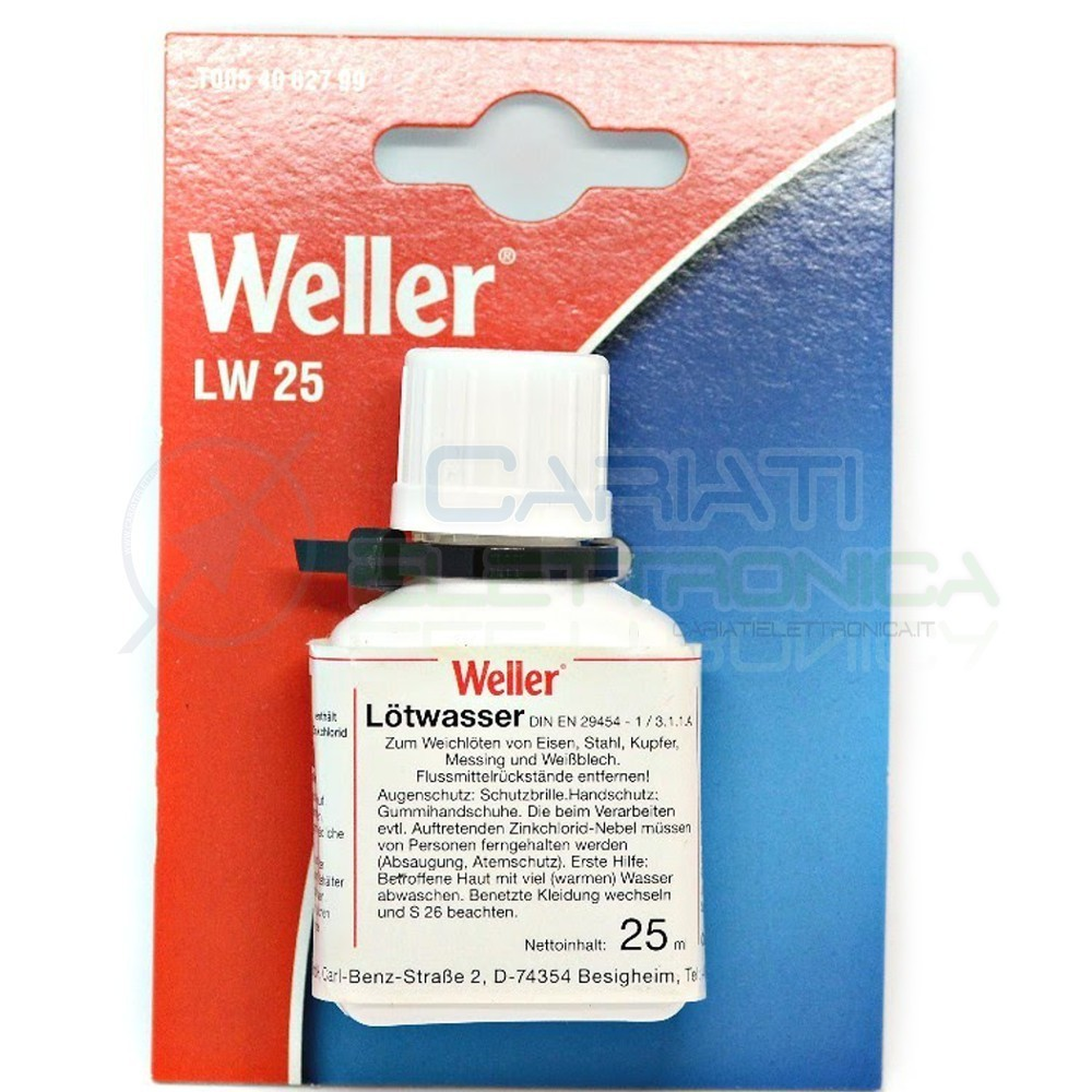Flussante liquido Weller 25 ml con pennello applicatore stagno saldatura Flux
