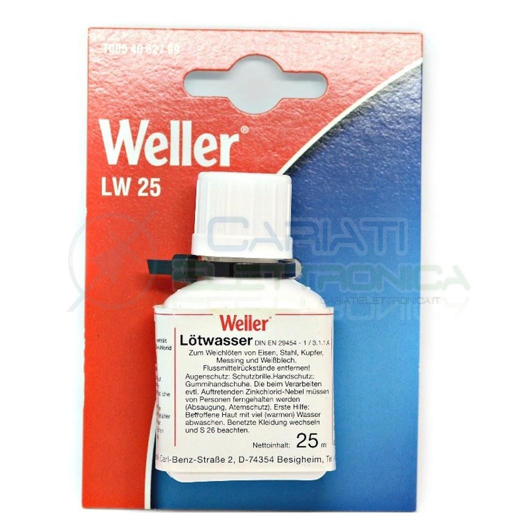 Flussante liquido Weller 25 ml con pennello applicatore stagno saldatura Flux  4,30€