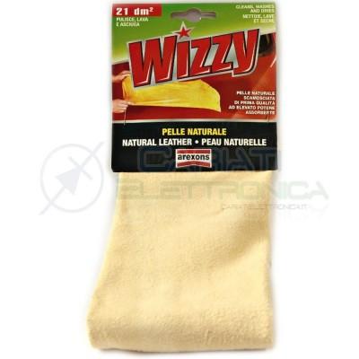 Panno Pelle naturale scamosciata Wizzy AREXONS per pulire asciugare autovetture