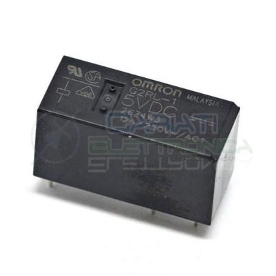 Relè singolo 1 scambio Omron G2RL-1 5VDC 5V DC 12A 250V SPDTOmron