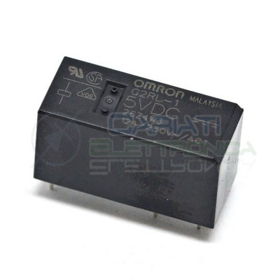 Relè singolo 1 scambio Omron G2RL-1 5VDC 5V DC 12A 250V SPDT Omron 2,40€