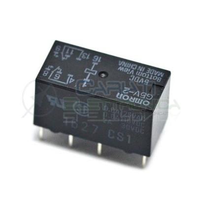 Relay Omron G5V-2 Voltage coil 5Vdc 5V contact DPDT 2AOmron