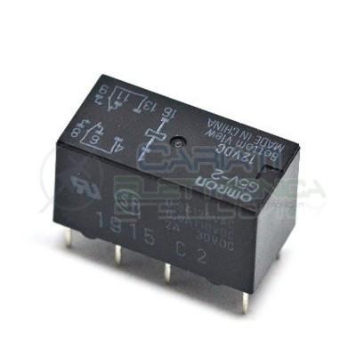 Relè doppio scambio Omron G5V-2 12VDC 12V DPDT 2A Omron 1,70€