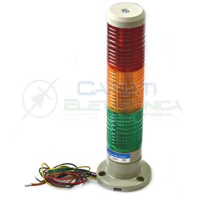 Spia Lampada Torre Luce di segnalazione industriale 3 colori 12V Warning Light